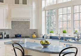 Traditional Kitchen Backsplash Ideas - kitchen oval kitchen island black traditional chair marble