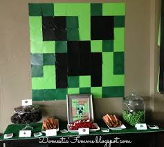 minecraft party decorations domestic femme minecraft birthday party