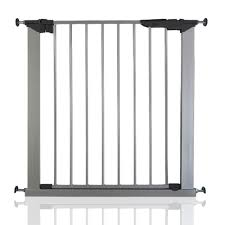 Baby Stairgate Safetots No Baby Safety Guard Pressure Stair Gate Silver
