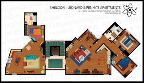Big Floor Plan by Erin Leong Illustrated Floorplans For The Big Bang Theory And Mad Men