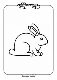 Rabbit Coloring Page White Rabbits Color Book Youtube 9 Bunny Books For Coloring