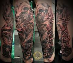 leg tattoos and designs page 12 shin skull designs