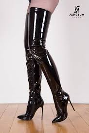 s high boots black shiny giaro 12cm heeled thigh high boots shoebidoo