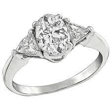 oval cut engagement rings 1 01 carat oval cut engagement ring for sale at 1stdibs