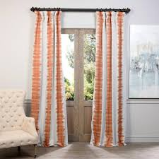 orange curtains u0026 drapes window treatments the home depot
