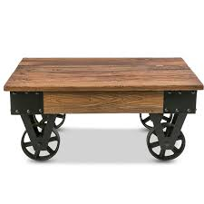 industrial coffee table with wheels williston forge deon industrial coffee table reviews wayfair