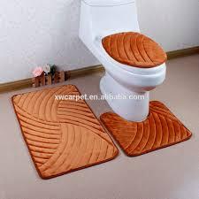 Bathroom Rugs Set 3 Piece by 3d Embossed Bath Mat Sets 3pcs Bathroom Mat Set 3 Piece Bath Rug