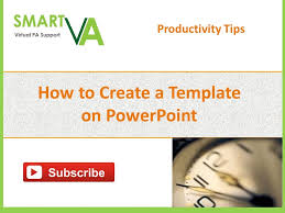 how to create a template on powerpoint youtube