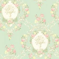 maybelle mint cameo damask wallpaper traditional wallpaper