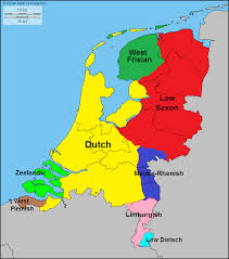 netherlands map languages and dialects of the netherlands maps