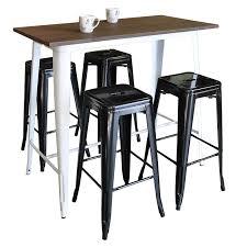 Bar Table And Stool Tolixbar Table120x60 Whitelegs Angled Blackstoolsx4 Jpg