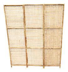 rattan screen room divider chairish