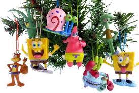 spongebob squarepants ornaments figurines pack of 8 set 0