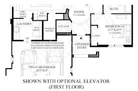 Home Plans With Elevators The Overlook At Firerock The Cabrillo Villa Home Design