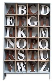 espresso or white capital wood wall hanging letters home decor