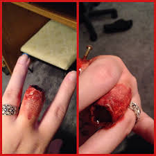stacked finger wound with scar wax liquid foundation liquid