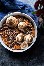 thanksgiving yams with marshmallows recipe sweet potato casserole half baked harvest