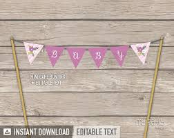 banner cake topper floral baby shower cake bunting mini banner cake topper