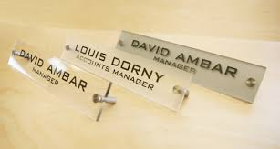 Name Plates For Office Desk Personalized Office Desk Sign Name Plate Modern Stainless