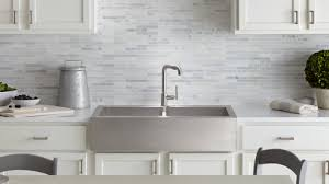 Introducing Vault Kohlers SelfTrimming ApronFront Kitchen Sink - Apron kitchen sinks