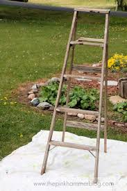 Leaning Ladder Shelf Plans Plant Stand Leaning Outdoor Ladder Plant Standleaning Stand Rare