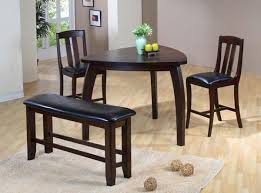 ashley triangle dining table brown polished wooden dining set