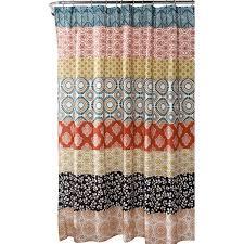 Teal And Brown Shower Curtain Bungalow Rose Bradlo Stripe Shower Curtain U0026 Reviews Wayfair