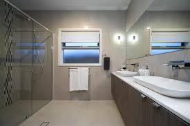 large modern bathroom the bridgewater 256 display home canberra