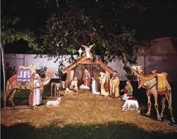 Yorkie Outdoor Christmas Decorations by White Outdoor Nativity Scene Walmart Com Yard Art Pinterest
