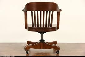 walnut 1930 u0027s vintage swivel adjustable desk chair signed