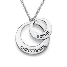 Disc Necklace Personalized Jewelry For Moms U2013 Disc Necklace