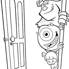 mike wazowski coloring pages with regard to motivate in coloring