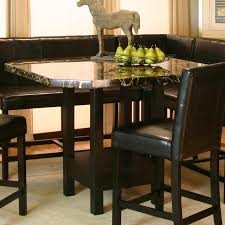 Corner Dining Room Furniture Cramco Inc Chatham Square Clipped Corner Pub Table W Faux Marble