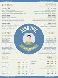 name resume modern resume curriculum vitae cv design with photo and name