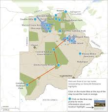 africa map kalahari botswana itineraries maps choose your botswana itinerary