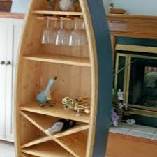 Canoe Shaped Bookshelf Shop Nautical Shelf On Wanelo