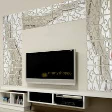 mirror decals home decor removable 32pcs 3d acrylic mirror wall stickers decals decor vinyl