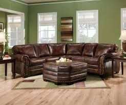 Living Room With Sectional Sofas by Rustic Leather Sectional Sofas Best Home Furniture Decoration