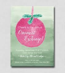 ornament exchange invitation christmas party invitation