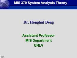 assistant professor mis department unlv ppt video online download