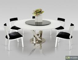 White Lacquer Dining Table by This Round Table Is Made Of White Lacquer U0026 Has A Convenient Lazy