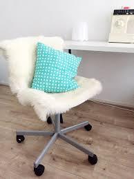ikea hack furry office chair chair design idea