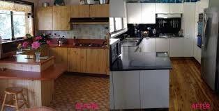 spray painting kitchen cabinets sydney timber kitchen renovation before and after two pack