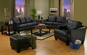 Rent Center Living Room Furniture by Samuel Contemporary Black Leather Sofa U0026 Loveseat Package La