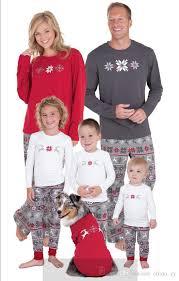 family pajamas 2017 snowflake print family