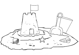 Kids Sand Castle Coloring Page Boys Pages Of Kidscoloringpage Sandcastle Coloring Page