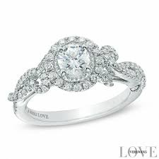 Vintage Style Wedding Rings by Vera Wang Love Collection 7 8 Ct T W Diamond Vintage Style