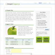 simple elegance template free website templates in css html js
