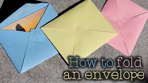 how to make envelopes how to make an envelope any size youtube