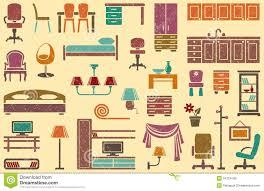 Furniture Theme Seamless Background On A Furniture Theme Stock Photos Image